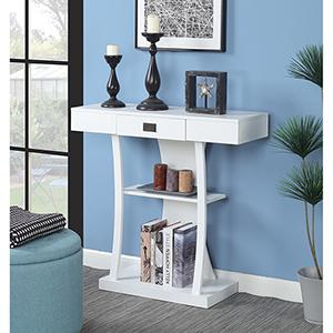 Newport Harri White Console Table