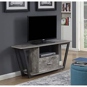 Graystone 60-Inch Gray and Black TV Stand