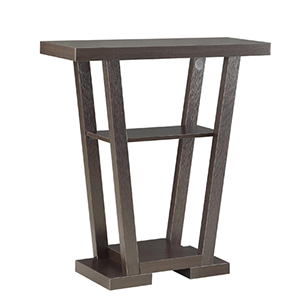 Newport Espresso V Shape Console Table