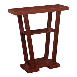 Newport Mahogany V-Console and Entryway Table