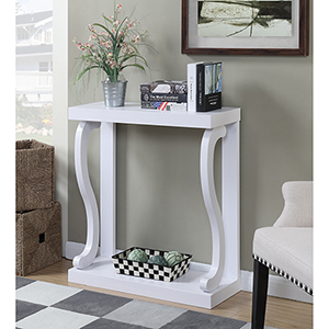 Newport White Gramercy Console Table