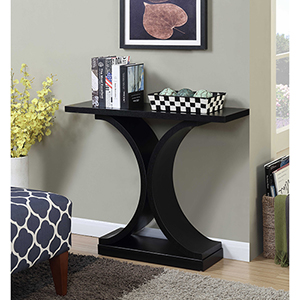 Newport Black Infinity Console Table