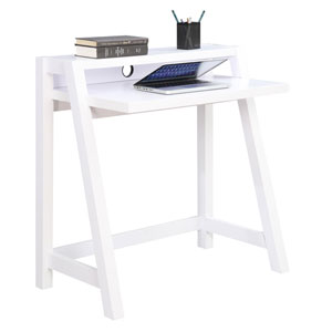 Newport White Computer Desk