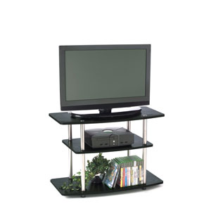 Designs2Go Black Three-Tier TV Stand