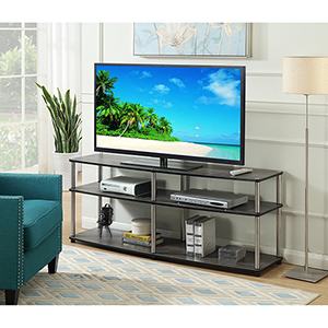 Designs2Go 3 Tier 60-Inch TV Stand in Weathered Gray
