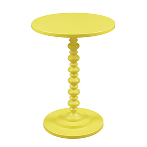 Palm Beach Spindle Table, Yellow