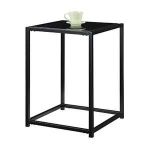 Classic Glass Black Glass Console Table, Set of 3