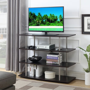 Designs2Go Espresso XL Highboy TV Stand