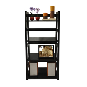 Designs2Go Black Trestle Bookcase