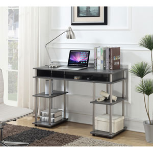 Designs2Go Charcoal Gray No Tools Student Desk