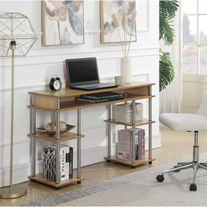 Designs2Go Light Oak Student Desk