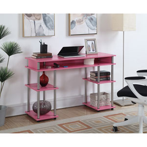 Designs2Go Pink No Tools Student Desk