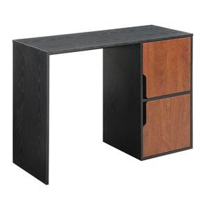 Designs2Go Black Computer Desk Desk with Storage Cabinets