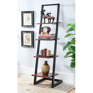 Designs2Go Black 4 Tier Ladder Bookcase