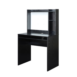 Designs2Go Black Computer Desk with Hutch