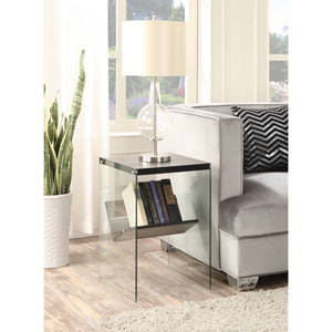 Soho End Table, Weathered Gray