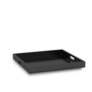 Palm Beach Black 16.63-Inch Wide Tray