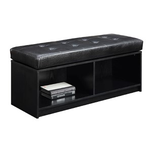 Designs4Comfort Broadmoor Black Storage Ottoman