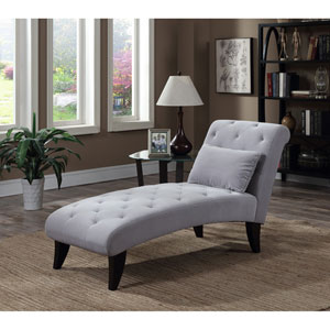 Designs4Comfort Gray Ashley Lounge Ottoman