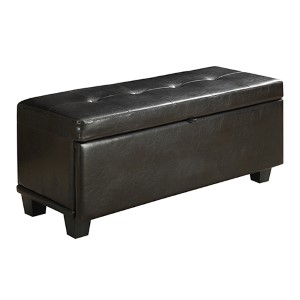 Designs4comfort Espresso Front Drop Down Hinged Ottoman