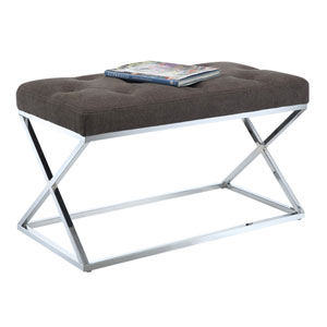 Designs4Comfort Taupe Bench Ottoman