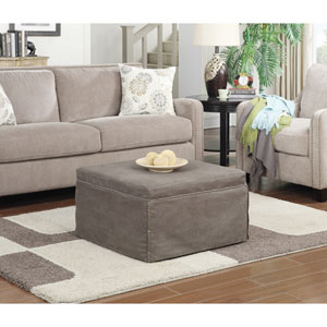Designs4Comfort Taupe Bed Ottoman