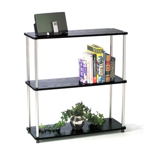 Designs2Go Black 3-Tier Bookshelf