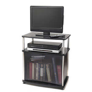 Designs2Go Black TV Stand with Cabinet