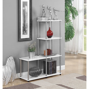 Designs2Go Multi Shelf L Shape Bookshelf