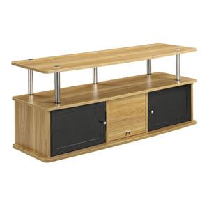 Designs2Go Light Oak 3 Cabinet TV Stand