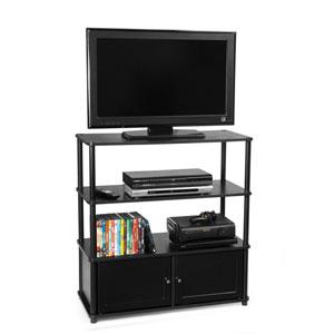 Designs2Go Black Highboy TV Stand