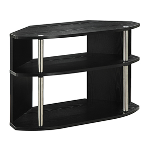 Designs2Go Black 20-Inch High Swivel TV Stand
