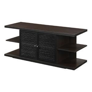 Designs2go Hampton Espresso and Black TV Stand