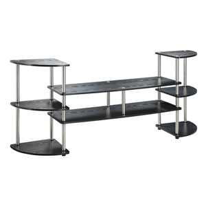 Designs2Go Black Multi Level TV Stand