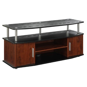 Designs2go Monterey Cherry and Black TV Stand