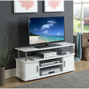 Designs2Go White Monterey TV Stand