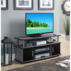 Designs2Go Weathered Gray / Black Monterey TV Stand