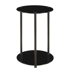 2 Tier Round End Table