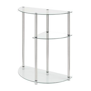 3 Tier Glass Display Entryway Table