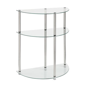 3 Tier Glass Entryway Table