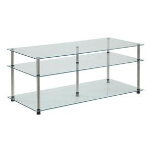 Designs2Go Glass 3 Tier Coffee Table