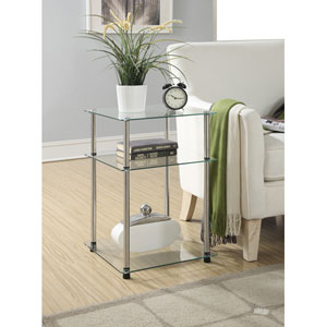 Designs2Go Glass 3 Tier End Table