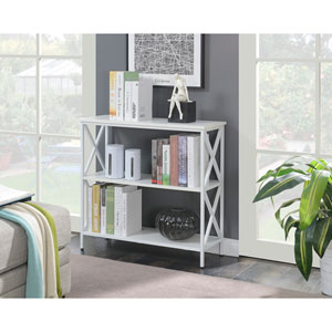 Tucson White 3 Tier Bookcase