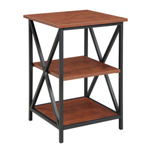 Tucson Cherry 3 Tier End Table
