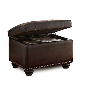 Designs4Comfort Espresso Fifth Avenue Storage Ottoman