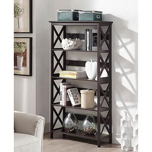 Oxford 5-Tier Bookcase, Espresso