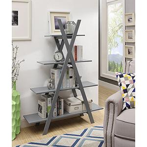 Oxford 5-Tier Bookcase, Gray
