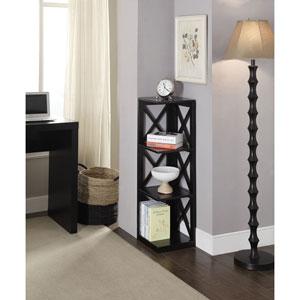 Oxford Black 3 Tier Corner Bookcase