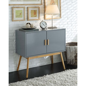 Oslo Gray Storage Console