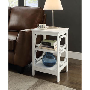 Omega White End Table